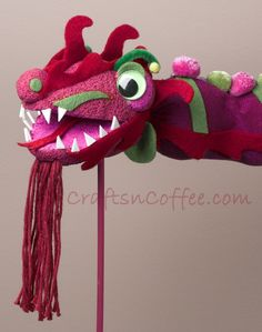 How to decorate a Chinese Dragon Puppet