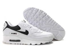 Ken Griffey Shoes Nike Air Max 90 White Black Synthetic Leather [Nike Air Max 90 - Do you want to wear a pair of performance and comfy sneakers? Enjoy the Nike Air Max 90 White Black Synthetic Leather shoes showed here. Cheap Nike Air Max, Nike Shoes Cheap, Nike Free Shoes, Running Shoes Nike, Nike Store, Jordans Girls, Air Jordans, Air 90, Red Nikes Womens
