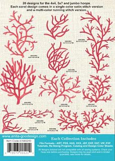 coral embroidery