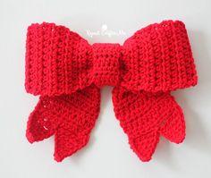 Crochet Big Red Bow