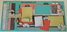 Two Page Scrapbook Layout Pages School Chalk It Up #cricut #ctmh #scraptabulousdesigns