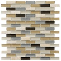 @Overstock - Add a modern feel to any kitchen or living room with this gorgeous glass and stone mosaic tile from SomerTile. This decorative piece features Grade 1 natural mica stone and polished glass tiles in a contemporary blue, brown, and gray motif. http://www.overstock.com/Home-Garden/SomerTile-12x12-in-Reflections-Subway-5-8x2-in-River-Glass-Stone-Mosaic-Tile/4211250/product.html?CID=214117 $129.99