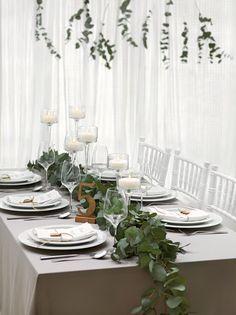 Tischdekoration Grün