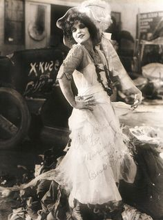 Clara Bow on the set of The Lawful Cheater, 1925.