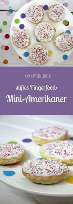 Mini-Amerikaner: Fingerfood für den Kindergeburtstag Mini-Americans are perfect for a finger food buffet and as a recipe for children's birthday best suited. The American recipe can be well modifi Party Finger Foods, Snacks Für Party, Appetizers For Party, Cake Recipes, Snack Recipes, Just Bake, Party Buffet, Healthy Foods To Eat, Kids Meals