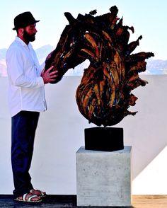 Janko de Beer Sculptures, Lion Sculpture, South African Artists, Natural Shapes, Sculpting, Beer, Root Beer, Sculpture, Ale