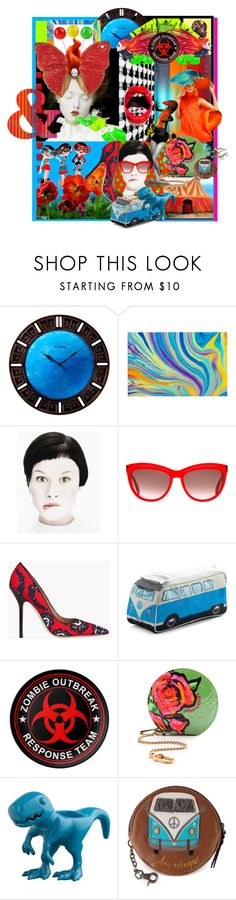 """""""editorial collage"""" by dawn-lindenberg ❤ liked on Polyvore featuring Bulova, Kess InHouse, Whiteley, Color My Life, Alexander McQueen, Dsquared2, CB2 and The Sak"""