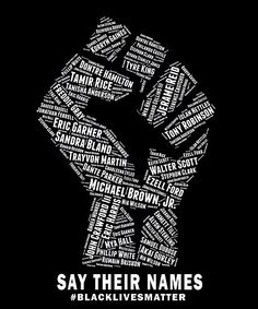 'Black Lives Matter: Say Their Names' Poster by shaggylocks Protest Art, Protest Signs, Black Power, Power To The People, Black Girl Art, Black People, Black Is Beautiful, Black History, Just In Case