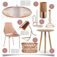 2015 Trend - Copper by lidia-solymosi on Polyvore featuring interior, interiors, interior design, home, home decor, interior decorating, H&M and HAY