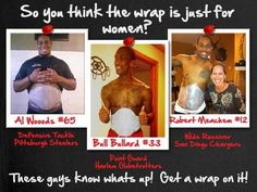 The NFL Love to Wrap too 914-249-WRAP http://awrappedgoddess.myitworks.com/contactme/