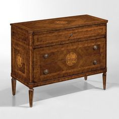 Italian Louis XVI Maggiolini Style Three Drawer Commode