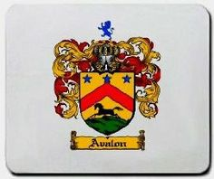 Avalon Family Shield / Coat of Arms Mouse Pad $11.99