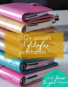 150+ pages of #Filofax printables! >>> www.limetreefruits.com/planner-packet/