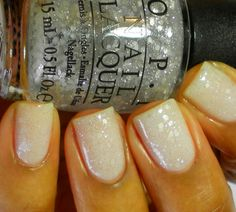 Opi nail polish in Pirouette My Whistle over Don't Touch My Tutu!