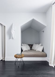 Good use of cubby space areas in bedroom/s - build seating area