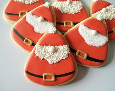 Nosey Santa Claus Cookies. by Make Me Cake Mejpg