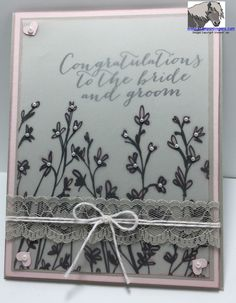 """Stampin' Up! new Sale-A-Bration item Sheer Perfection Designer Vellum Stack and Nature's Perfection stamp set, with 2015 Occasions stamp set """"For the New Two"""""""