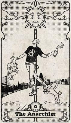 baldespendus:  The Anarchist: from the tarot cards deck called Tarot 108. By SKonziner.