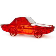 Jonathan Adler Red Lucite Car Sculpture ($2,085) ❤ liked on Polyvore featuring home, home decor, red, car interior decor, car home decor, jonathan adler home decor, red home decor and red home accessories