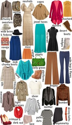 recycled fashion buying guide for Autumn found via more design please (its just too bad that we are heading into Spring - I love Autumn clothes!)