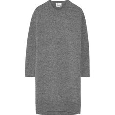 Acne Studios Phebe wool sweater dress (815 ILS) ❤ liked on Polyvore featuring dresses, sweaters, acne, tops, grey, gray wool dress, grey dress, woolen dress, grey wool dress and sweater dress