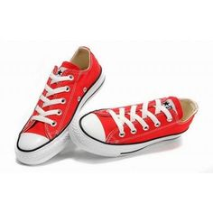 Converse Shoes Chuck Taylor All Star Red Classic Sneakers Low