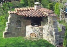 60 úžasných nápadov, ako spraviť vašu záhradu úžasnou pomocou obyčajného kameňa - sikovnik.sk Barbecue Dinner Recipes, Photo Macro, Gazebo, Pergola, Sloped Garden, Front Yard Landscaping, Outdoor Structures, Landscape, House Styles
