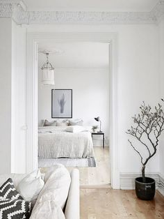 Simple bedroom with a neutral color palette