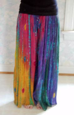 hippie pants out of a skirt