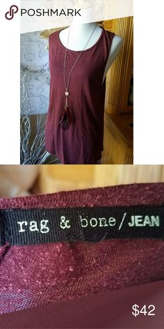 Rag and Bone/Jean Tank! Silk blend, premium Rag and Bone! Gorgeous burgundy scoop neck. Super soft, well taken care of with minor pilling. rag & bone Tops Tank Tops