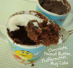 Chocolate Peanut Butter Fluffernutter Mug Cake - Chocolate Chocolate and More!