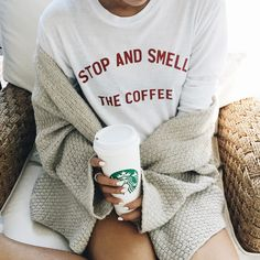shopjawbreaking:  Stop and smell the coffee long sleeve >