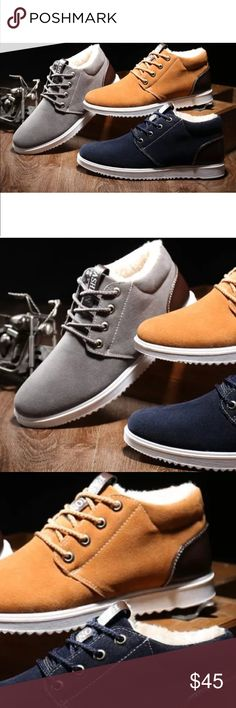 Men's Winter Sneakers {{ Item Details }} Chestnut / Navy / Gray   {{ Pre-Order Details }} 1. Make an Offer! 2. Receive a boutique credit with the Posh label and a tracking # with free shipping for your order.  📦 Same day shipping for orders place Mon-Fri until 4pm!  💕 Trusted & Top Rated Seller!  Connect on Facebook & Instagram!  @theretailtherapyboutique Shoes Sneakers