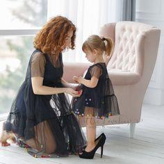 Girls Tutu Dresses, Blush Dresses, Tutus For Girls, Pretty Dresses, Kids Dress Shoes, Bat Mitzvah Dresses, Aesthetic Clothes, Aesthetic Outfit, Black Tulle Dress