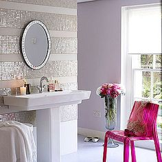 Something similar could be done by using one solid color all over and then, when the first coat dries, add glitter to a second batch and paint stripes.