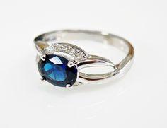 A Modern Twist on Something Blue #Modern #Sapphire #Twisted