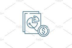 Vector Website, Report Design, Line Icon, Concept, Letters, Marketing, Illustration, Letter, Illustrations