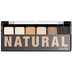 Nyx The Natural Shadow Palette (150 ARS) ❤ liked on Polyvore featuring beauty products, makeup, nyx cosmetics, nyx, nyx makeup and palette makeup