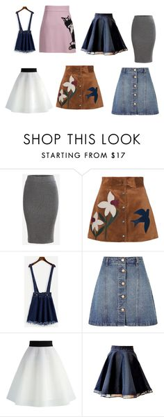 """skirts!!!!!!!!!!!!!!!!"" by nurzarmina on Polyvore featuring RED Valentino, Anita & Green, Chicwish and MSGM"