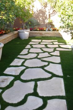 Decorating your garden with the stepping stones is a unique way to personalize and make your garden stand out. Stepping stones are often used to give a great appearance to your garden. Stepping stones can make all the paths in… Continue Reading → Landscape Stepping Stones, Stepping Stone Pathway, Landscape Steps, Concrete Walkway, Garden Steps, Easy Garden, Garden Paths, Backyard Walkway, Stone Backyard