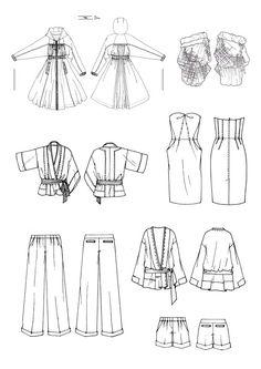 [주말특강]토요일:패션일러스트,도식화,패션디자인 원하는 부분 골라서 배우기 - 루아트 패션일러스트 패션창작연구소 : 네이버 블로그 Flat Drawings, Flat Sketches, Body Sketches, Fashion Portfolio, Fashion Design Sketches, Technical Drawing, Shape Design, Fashion Flats, Coloring Books