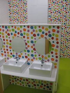 School bathrooms Agatha tiles