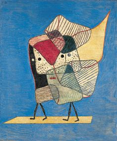 Zwillinge, 1930, oil on canvas |by Paul Klee