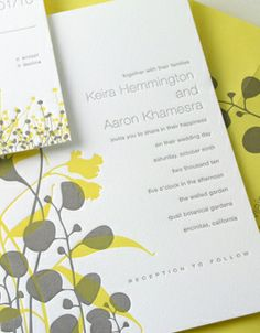 Fields Letterpress Wedding Invitation