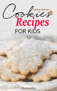 5 Easy And Healthy Kids : Buying cookies can make you wary of the ingredients used, especially if you are health conscious. Moreover, freshly baked cookies are the best, as there are no preservatives, and the taste is intact. Healthy Cookies For Kids, Healthy Christmas Cookies, Cookie Recipes For Kids, Delicious Cookie Recipes, Healthy Meals For Kids, Yummy Cookies, Baby Food Recipes, Kids Meals, Eggless Recipes