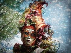 Cornucopia - inspired by a photography taken during the venitian carnival in Annecy, France - Artwork © Barbara Orenya