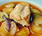 "Greek family recipe for baked fish known as ""plaki"" Fun Cooking, Cooking Recipes, Healthy Recipes, Greek Recipes, Fish Recipes, Recipies, The Kitchen Food Network, Cooking For Beginners, Baked Vegetables"