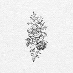 Rose hip tattoo idea - Today Pin - Most creative tattoo list Hand Tattoos, Tattoos Skull, Feather Tattoos, Dog Tattoos, Sleeve Tattoos, Tatoos, Neck Tattoos, Rose Tattoo On Hip, Flower Hip Tattoos
