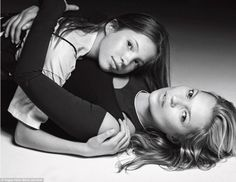 Kate Moss and her daughter Lila Grace - Photography by Mario Sorrenti for Vogue - 2016