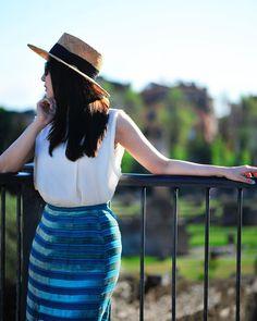 Panama Hat, Rome, Photoshoot, Hats, Skirts, Fashion, Moda, Photo Shoot, Skirt